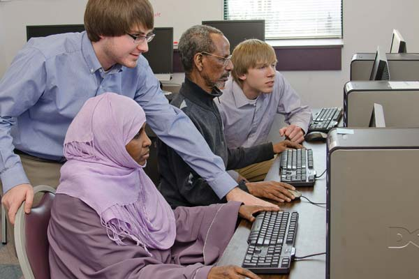 IT students helping Somalis