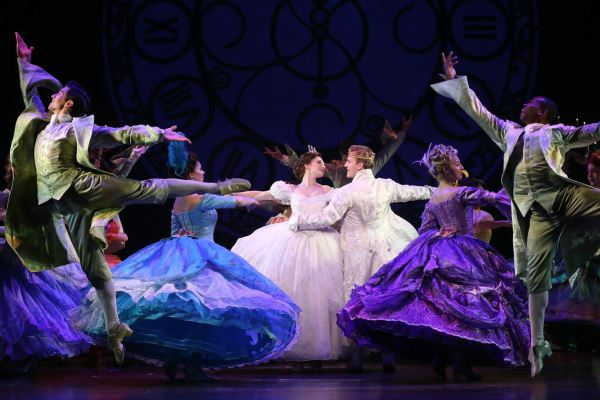 Grant Richards performing in Cinderella