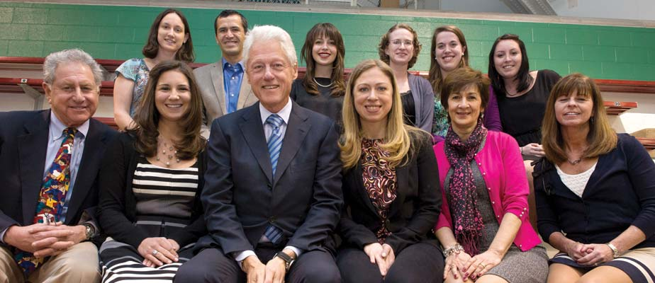 President Bill Clinton and CGI delegation