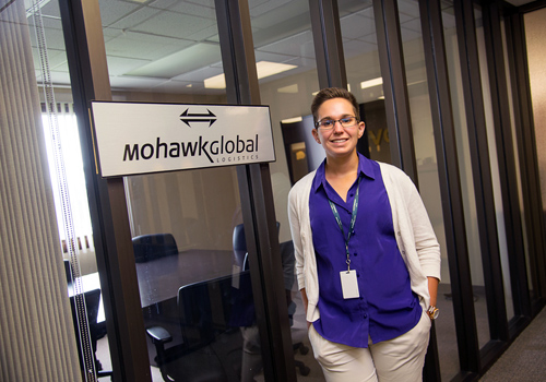 Jennifer Lachell, intern at Mohawk Global Logistics