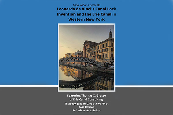 Leondardo da Vinci's Canal Lock Invention and the Erie Canal in Western NY