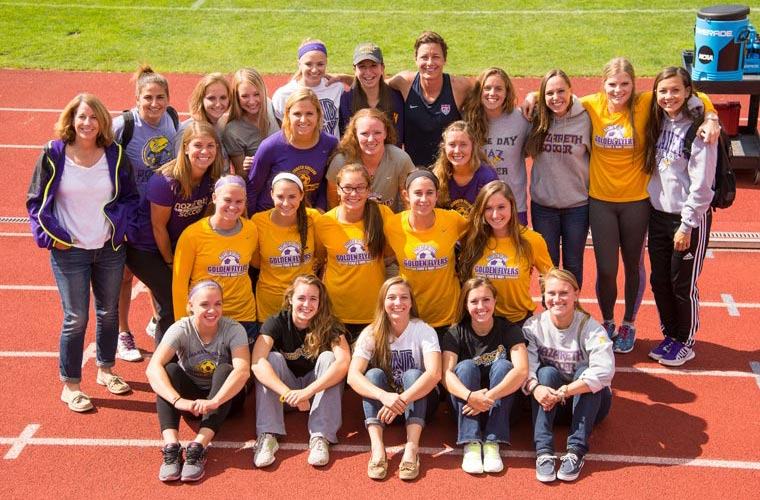 Abby Wambach and Naz women's soccer