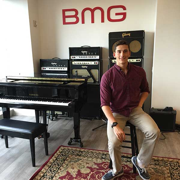 Nick Napoli, music/business internship at BMG