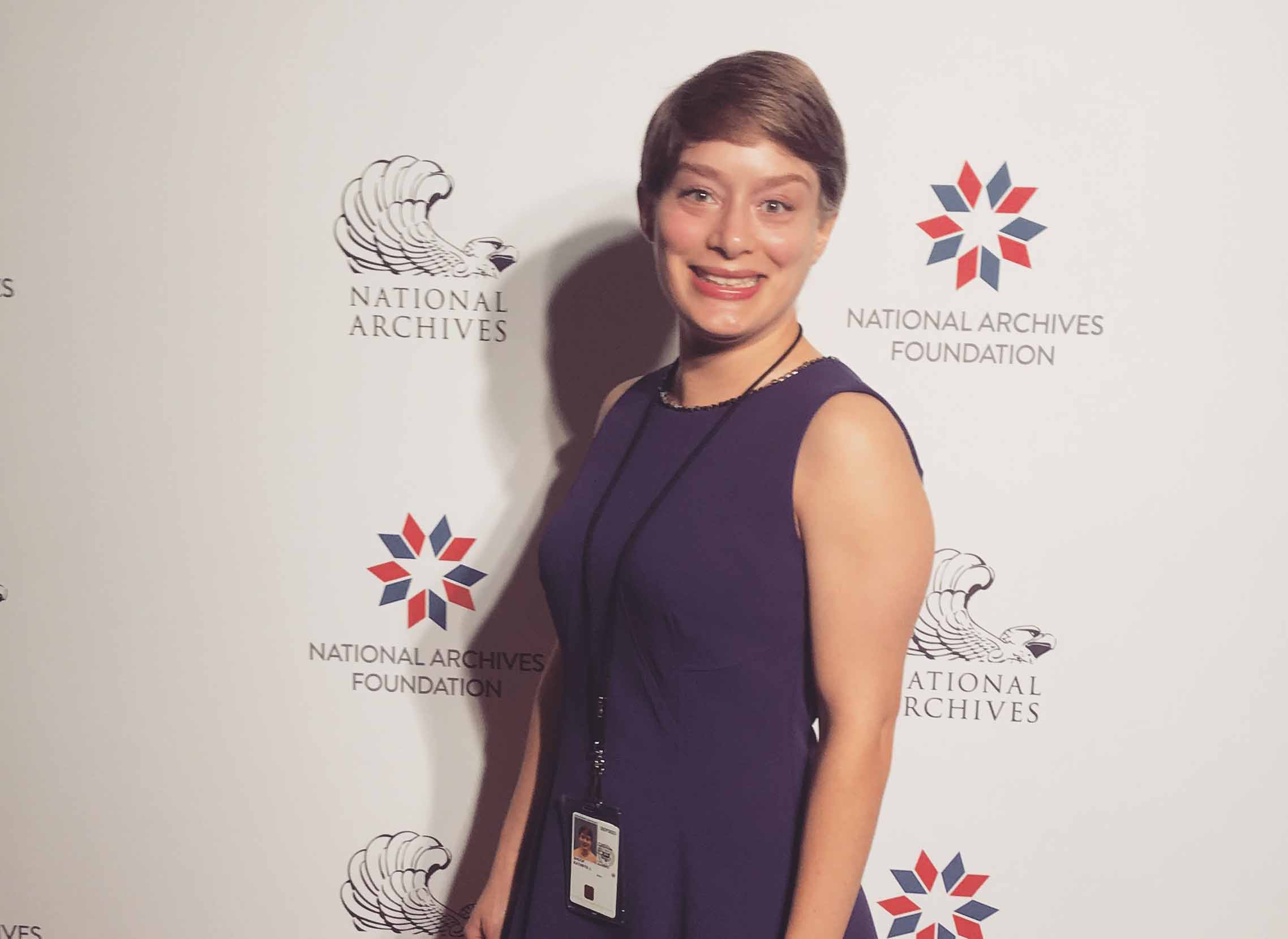 Katy Shoop at National Archives internship