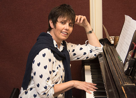 Corinne Aquilina at piano