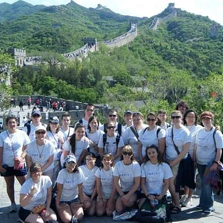 Standing at the Great Wall of China