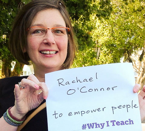 Rachael O'Connor teaches to empower people