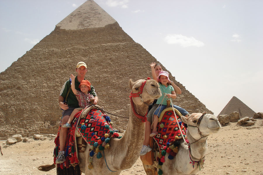 Walsh family at the Great Pyramid