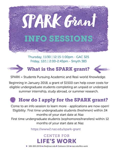SPARK Grant Info Sessions