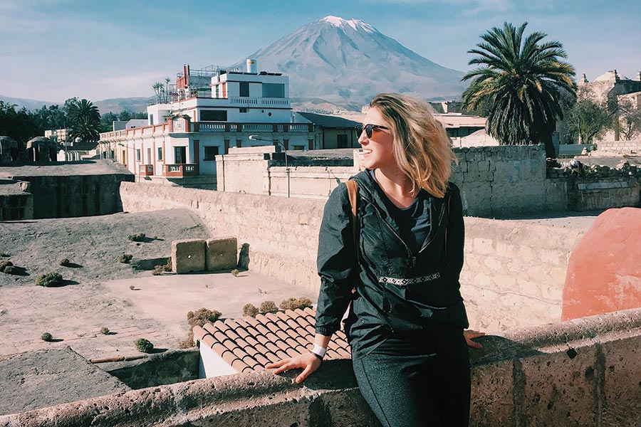 Jessica Meyers in Peru