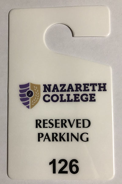 reserved parking permit