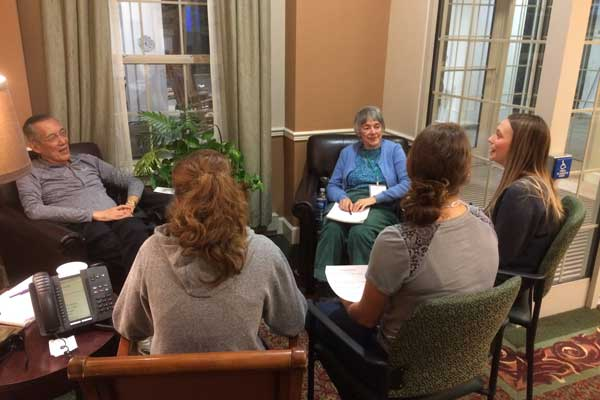 Nazareth gerontology students at St. John's Living Community