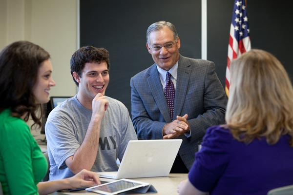 Jerry Zappia with Naz students