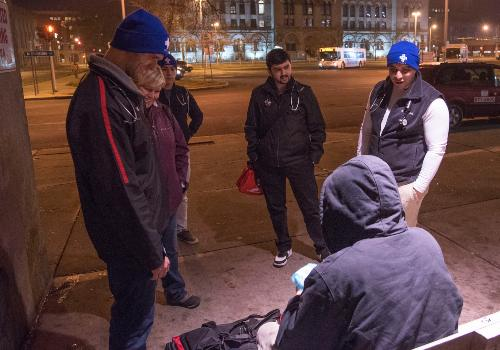 alum working with homeless