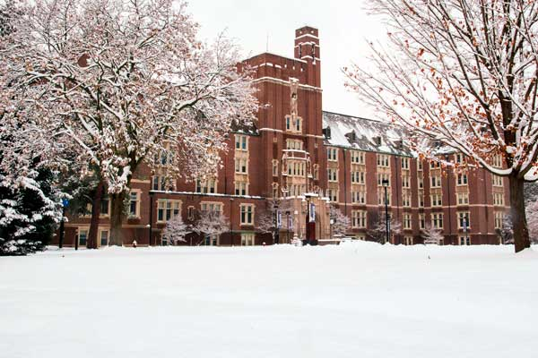 Smyth Hall in Winter
