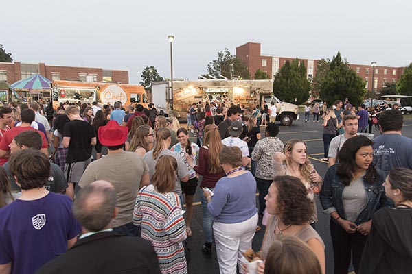 Food Truck Rodeo with Bands on the Lawn and JUMBOshrimp
