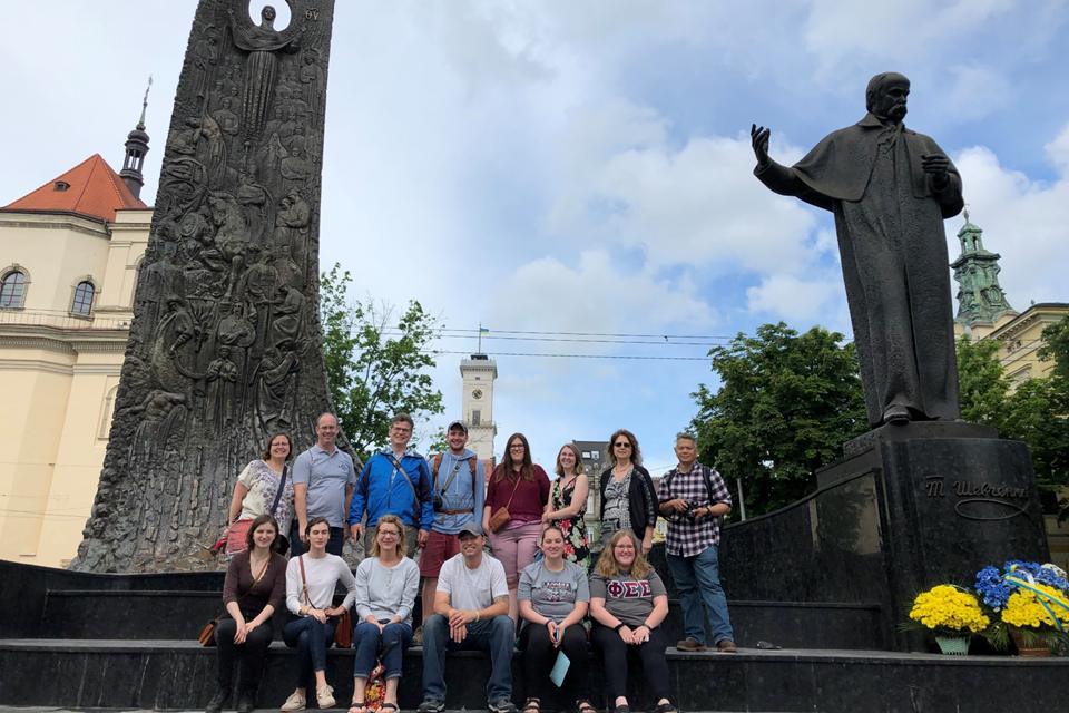 Nazareth students and faculty in Ukraine