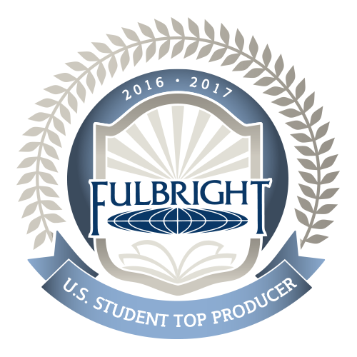 Fulbright shield: U.S. Student Top Producer 2015-2016