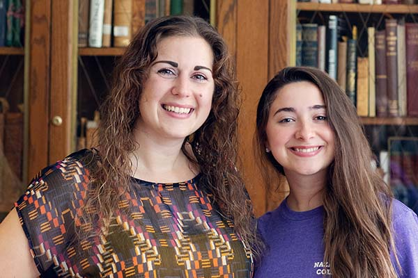 "Researchers Rebecca Rouland & SPARK-funded student Izabella ""Izzy"" Kimber"
