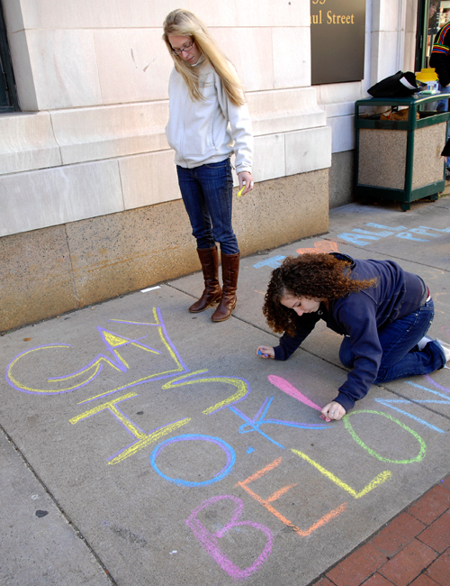 LGBT side walk chalk campaign