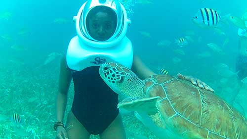 Yomayra Guerrero '16, Crushing in Belize