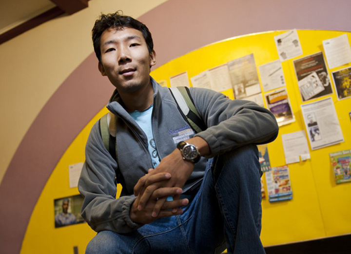 international student in the Shults Center