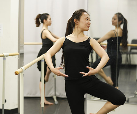 "Zhongyuan ""Grace"" Fa, alum, was a dance major and went on for a master's degree"