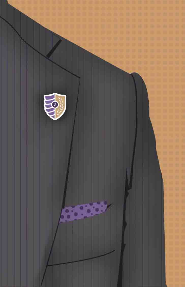 Career clothing: Suit jacket with Nazareth shield on the lapel