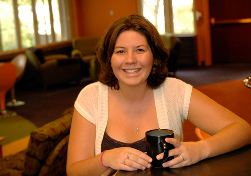 Jessica Burchfield, alumna of the mathematics degree program, math major at Nazareth College