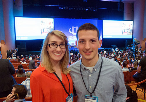 Danielle Mensing and Nicholas Gerbino at the CGIU Conference.