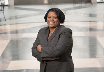Kayla Gibson, alumna of the legal studies & pre-law degree at Nazareth College & Syracuse law school